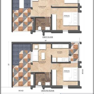 House 30'x20′ (West Facing) – W1