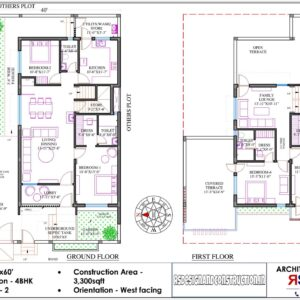 House 40'x60′ (West Facing) W4