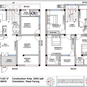 House 30'x32′ (West Facing) – W9